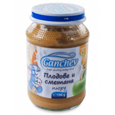 Ганчев Бебешки десерт /Плодове със сметана/ 190 гр.